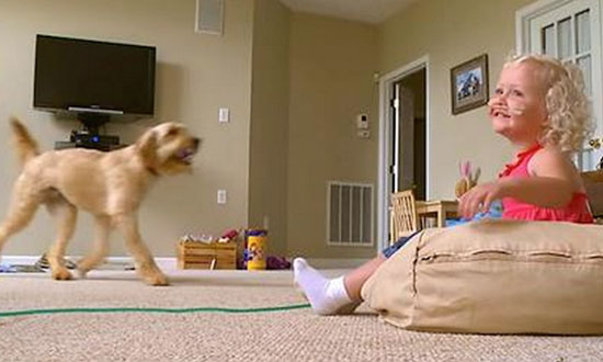 Parents hook her up to a machine to keep her alive. Now watch what the dog does!