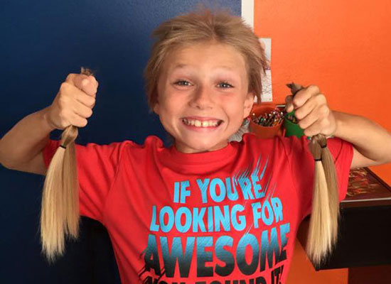 8-Year-Old boy suffered 2 years of bullying for long hair. Why? To make wigs for kids with Cancer