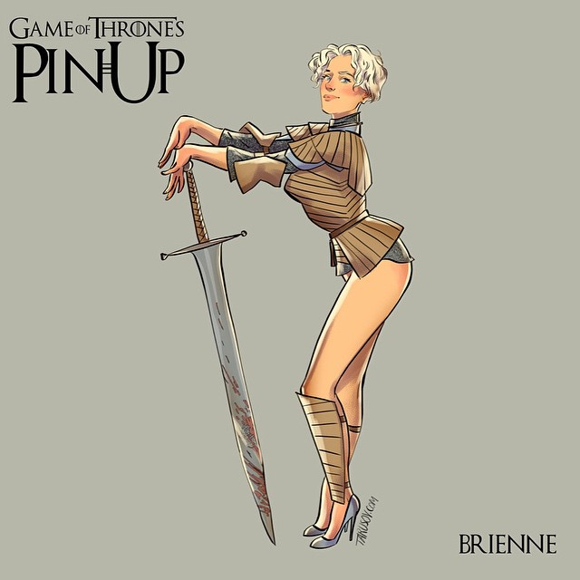 Brienne of Tarth Game of Thrones Pinups