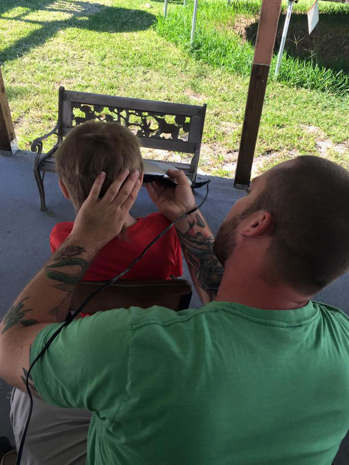 Even adults tried to encourage him to cut his hair
