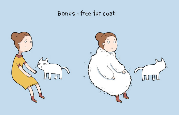 Advantages of Having a Cat - Free fur coat