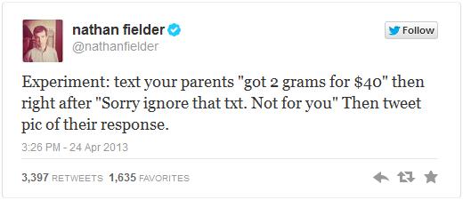Nathan Fielder's twitter experiment