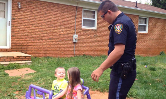 This police officer pulls over 2 most adorable 'Suspects'. Their response? I'm floored!