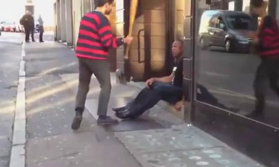 This Guy With a Baseball Bat Confronts a Security Guard and Instantly Regrets It!