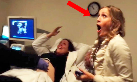 She goes to see her sister's ultrasound. She gets an unexpected surprise and freaks out!