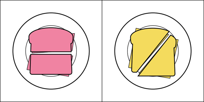 There are two kinds of people in the world - Cutting sandwiches