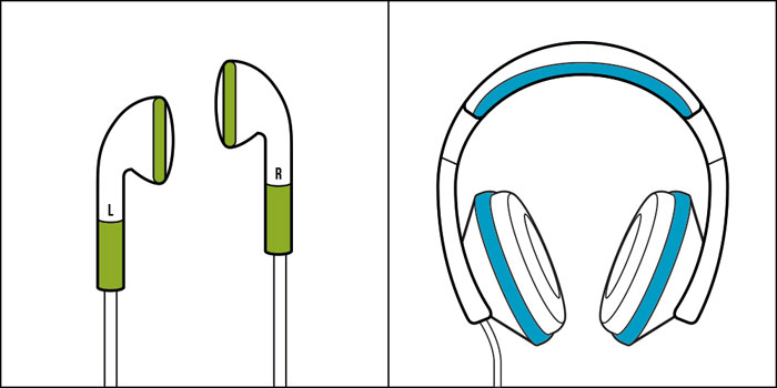 There are two kinds of people in the world - Ear phones