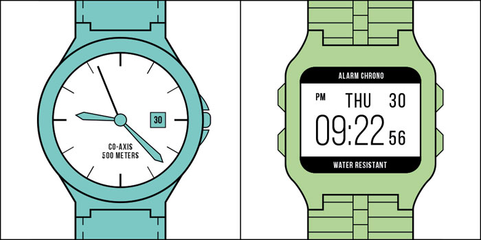 There are two kinds of people in the world - Type of watch