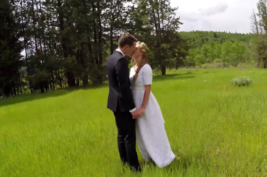 This wedding video goes from beautiful to a total mess in just 14 seconds! LOL