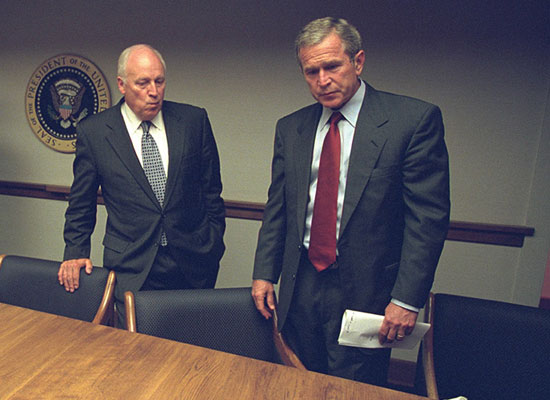 Stunning Photos Show Life Inside the White House During the 9/11 Terrorist Attacks