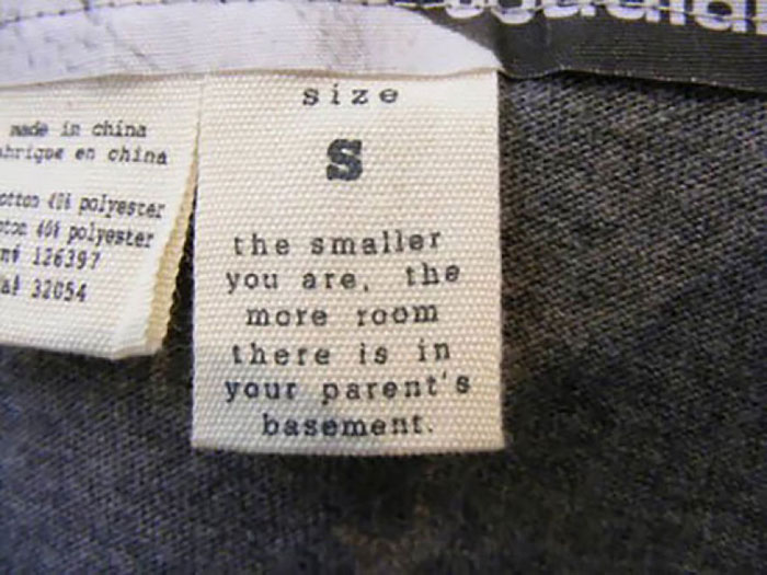 Hilarious Laundry Labels