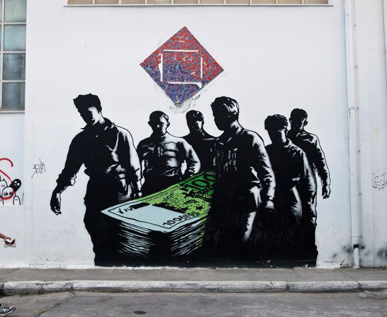 12 street art show the Greece financial crisis from the eyes of graffiti artists
