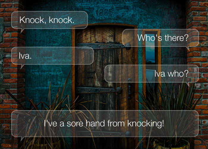 Best Knock Knock Jokes - Knock, knock. Who's there? Iva. Iva who? I've a sore hand from knocking!