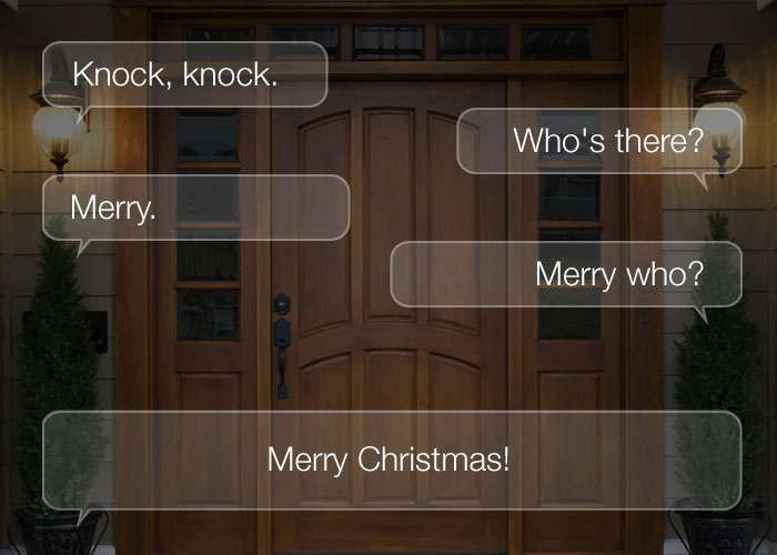 Knock Knock Jokes For Kids - Knock, knock. Who's there? Merry. Merry who? Merry Christmas!