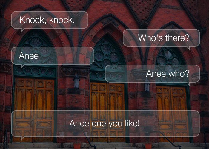 Knock Knock Jokes - Knock, knock. Who's there? Anee. Anee,who? Anee one you like!