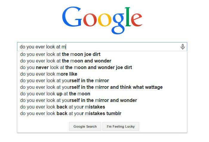 Weirdest Google Search Suggestions - Do You Ever Look at Yourself in the Mirror and Think What Wattage