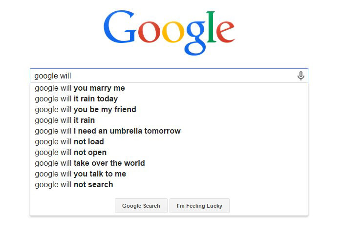 Funny Google Search Suggestions - Google Will You Marry Me