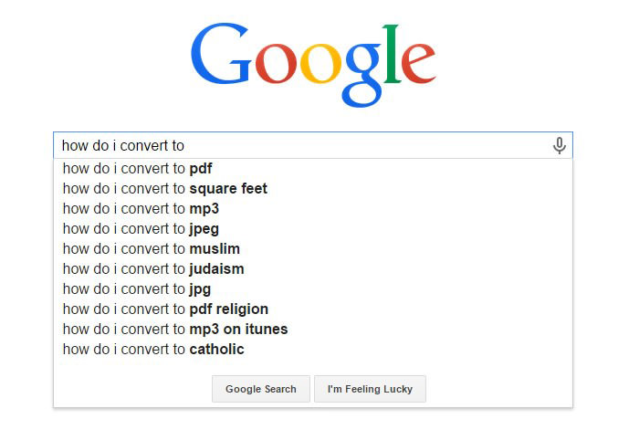 Hilarious Google Search Suggestions - How Do I Convert to PDF