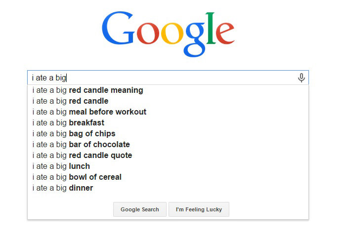 Hilarious Google Search Suggestions - I Ate a Big Red Candle