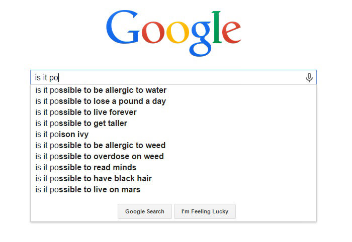 Funny Google Search Suggestions - Is It Possible to Live Forever