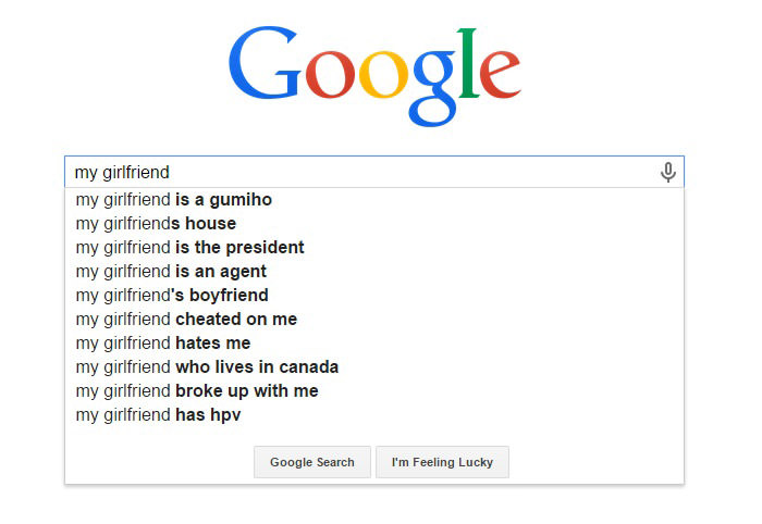 Hilarious Google Search Suggestions - My Girlfriend is a Gumiho