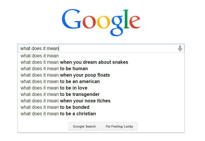 Funny Google Search Suggestions - What Does It Mean When Your Poop Floats