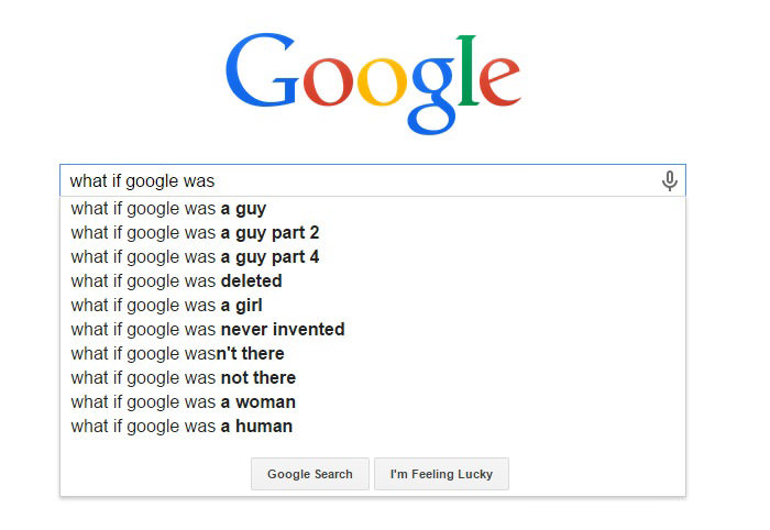 Weirdest Google Search Suggestions - What If Google Was a Guy