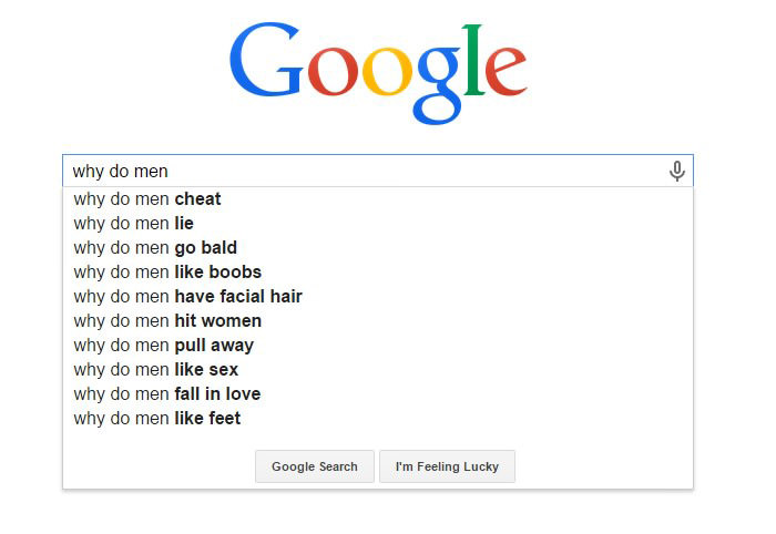 Weird Google Search Suggestions - Why Do Men Like Boobs