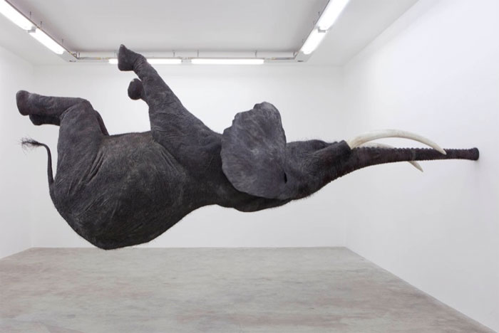 Balancing Elephant Sculpture by Daniel Firman