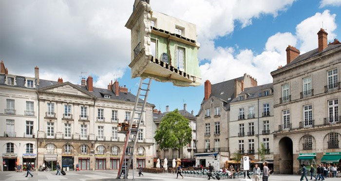 Floating Room Sculpture by Leandro Erlich