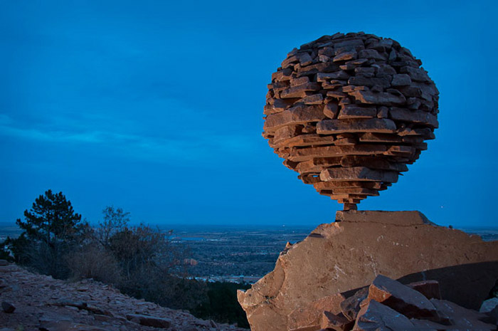 Incredible Balancing Stones Sculpture by Michael Grab