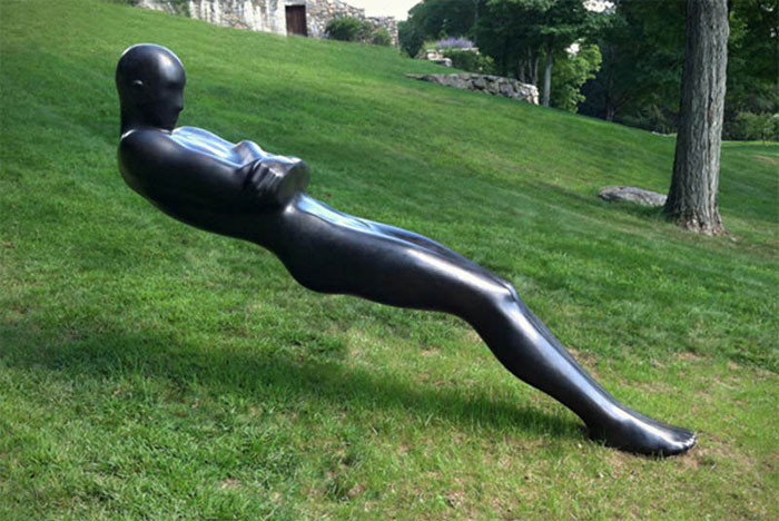 Leaning Statue Sculpture by Emil Alzamora