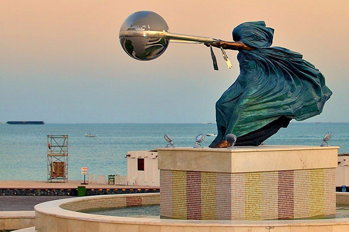The Force of Nature Sculpture by Lorenzo Quinn