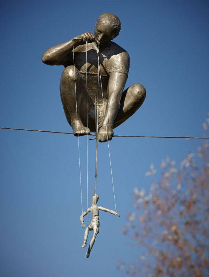 The Puppeteer Sculpture by Jerzy Kedziora