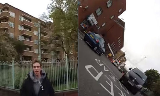 Pedestrian Caught on Camera Pushing a Female Cyclist Off Bike for Jumping Red Light