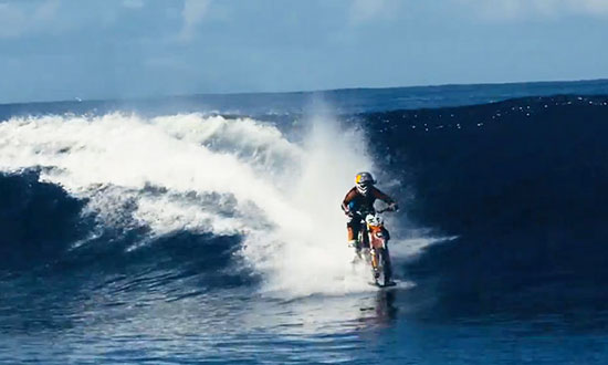 If You Believe Surfing a Bike on a Wave Is impossible… You Better WATCH THIS!
