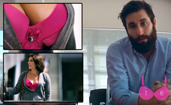 Girl Sets Up a Hidden Cam in Her Bra. Captured Video Will Make You Smile