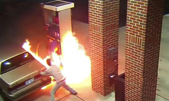 Never Use Your Lighter at a Gas Station! Specially to Kill a Spider