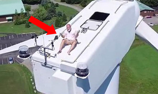 Drone Catches a Man Sunbathing in the Weirdest Place and He's Not Happy About It!