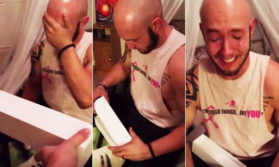 He Opens His Birthday Present Thinking It's An Apple Watch, But What's Inside Makes Him Cry!