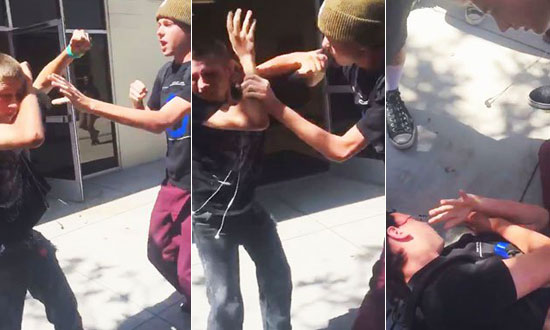 This Bully Repeatedly Punching Blind Kid in The Face and Regrets It Immediately!