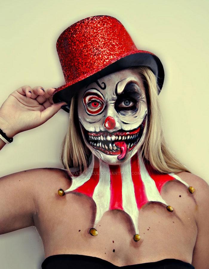 Creepy Halloween Makeup - Mad Clown
