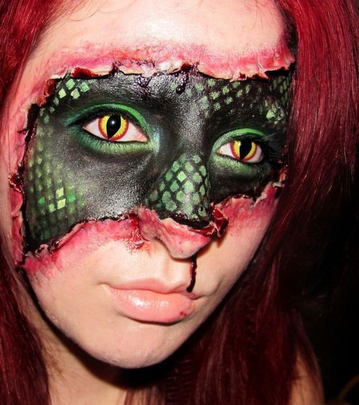 Scary Halloween Masks - Snake in A Girl