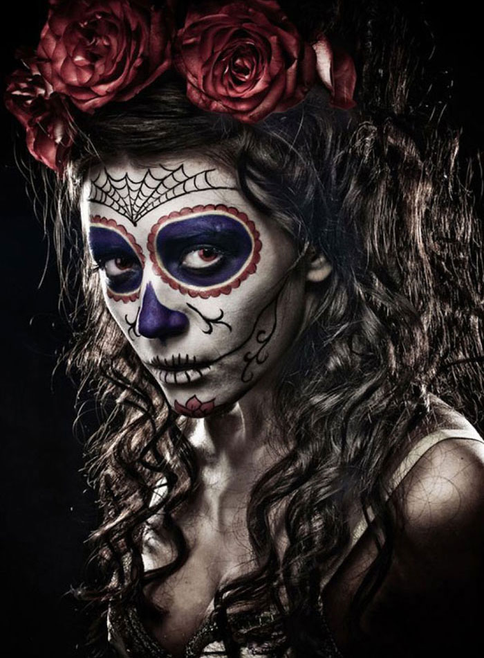 Scary Halloween Makeup - Sugar Skull