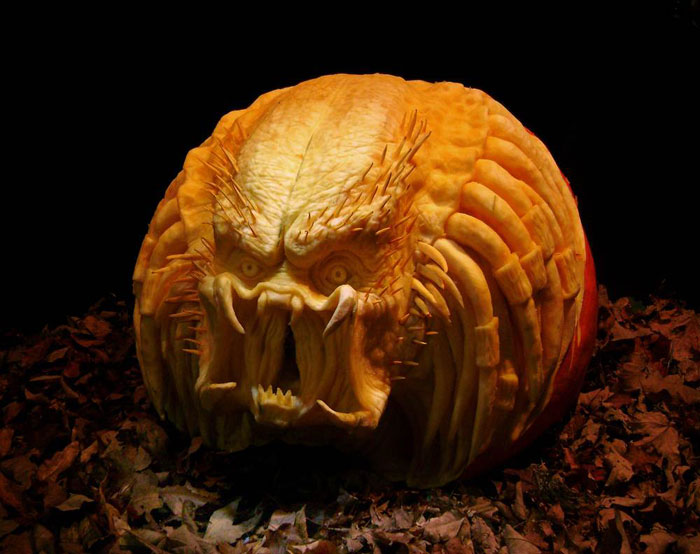Decorated Pumpkins for Halloween - Angry Predator
