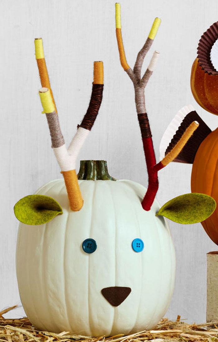 Decorating Pumpkins for Halloween - Deer Pumpkin