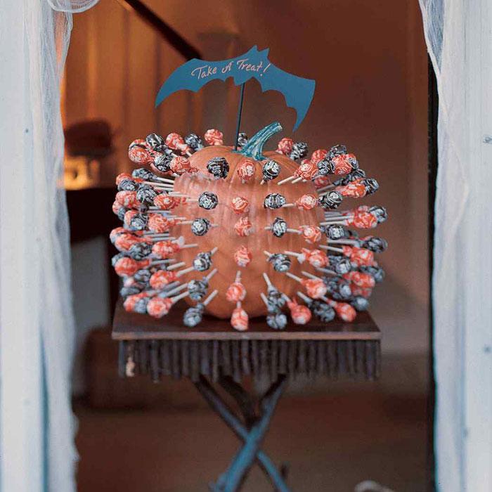 Decorated Pumpkins for Halloween - Lollipop Holder