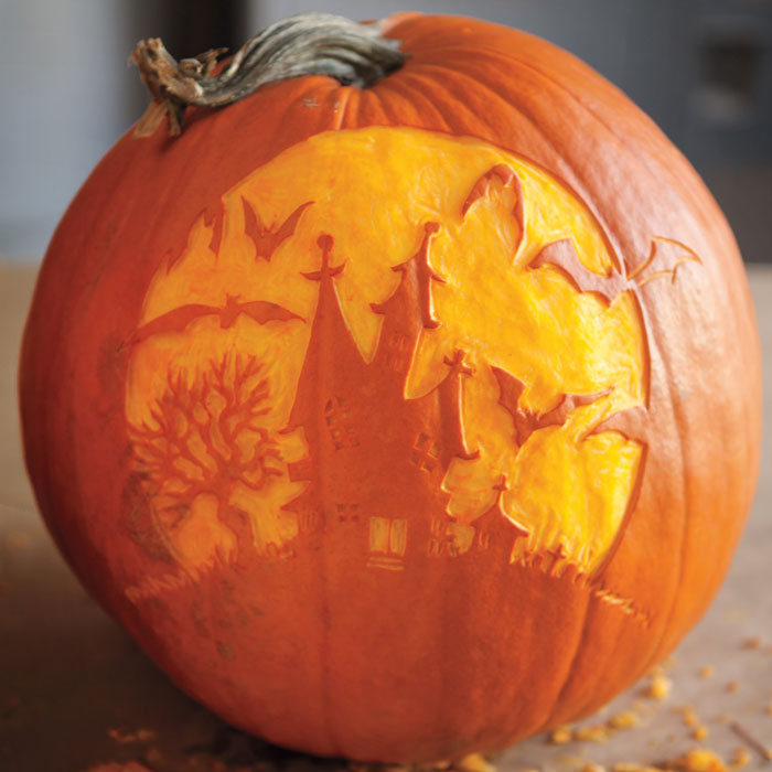 Awesome Pumpkin Carving Ideas - Scary House
