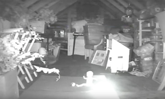 They Heard Noises In Attic, So They Set Up A Camera.. And Captured Something Horrifying