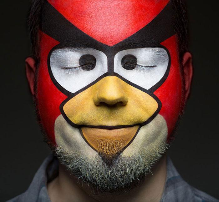 Halloween Makeup Ideas - Angry Birds